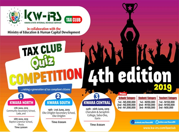 Timetable For The 4th Tax Club Quiz Competition 2019 | KW